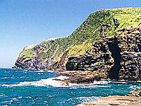 嵯峨島火山海蝕崖・写真