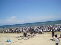 香良洲海岸 潮干狩り・写真