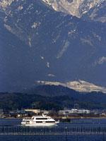 冬のびわこ縦走雪見船・写真