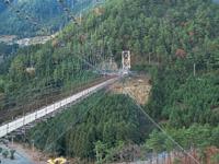 谷瀬の吊り橋・写真