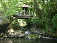 屋根つき橋(浪漫八橋)・写真