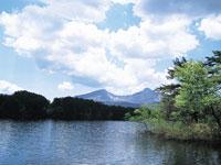 五色沼の紅葉・写真