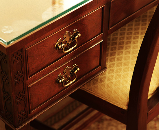 Most of the fixtures and furniture are original to when the hotel opened.  They are maintained in immaculate condition.