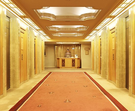 The exquisite elevator landing, exclusive to the Imperial Floors.