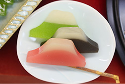 Mt. Fuji shaped sweets