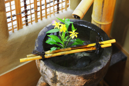 Seasonal flower arrangements can be found throughout the ryokan