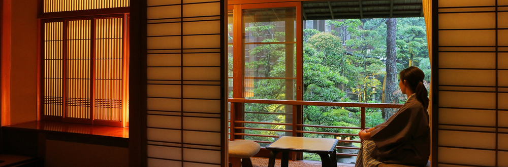 View of the garden from the Hiragi room