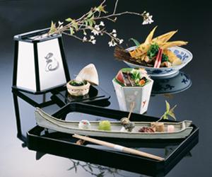 Cuisine at Nishimuraya Honkan