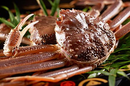 Kinosaki's famed crab cuisine