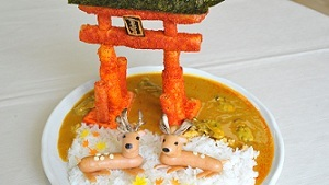 用咖喱大餐來重現日本的知名景點