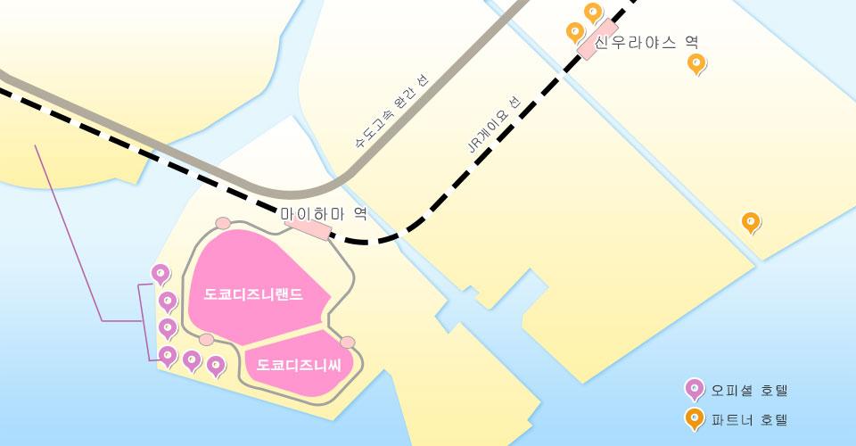 Tokyo Disney Resort Area Map