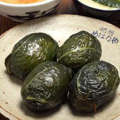Mehari (mustard leaf) sushi at Mehariya