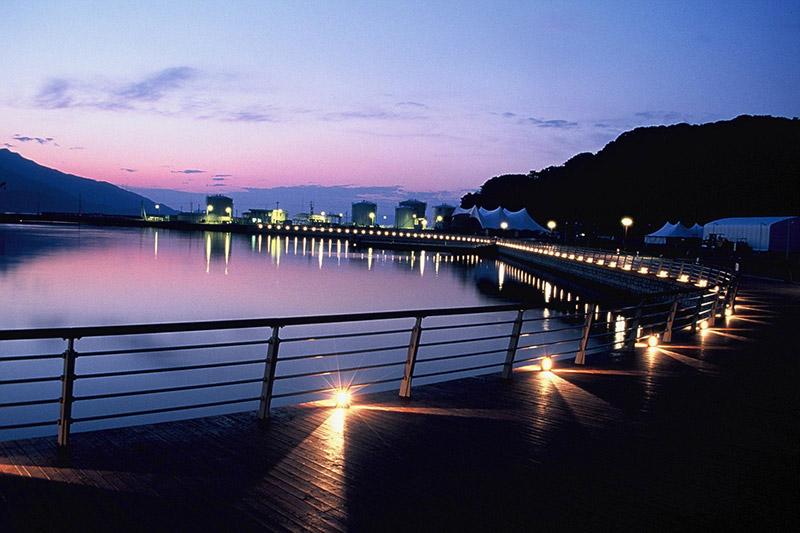 金ヶ崎緑地の夜景