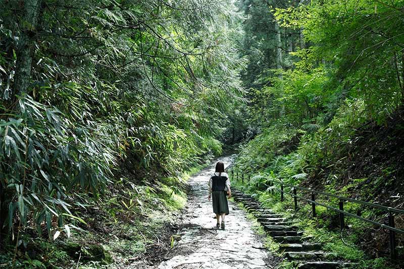 吉野山の巡礼路