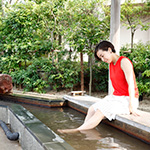 水神の松 足湯(ホテル九重)