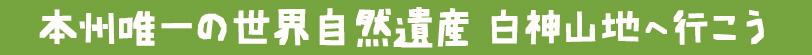 本州唯一の世界自然遺産 白神山地へ行こう