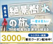 レンタカー3,000円クーポンも!