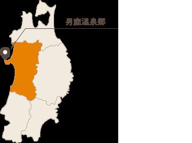 男鹿温泉郷地図