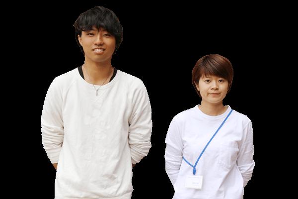 中原 慎弥さん、橋本 彩香さん