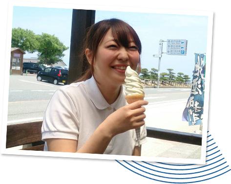 梨ソフトクリーム