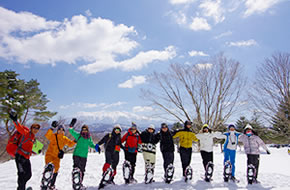 雪原スノーシュートレッキング(NPO法人飛騨小坂200滝)