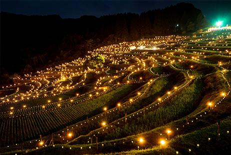 棚田の夜祭り・棚田のあかり