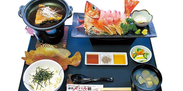 中泊メバルの刺身と煮付け膳(中泊町)