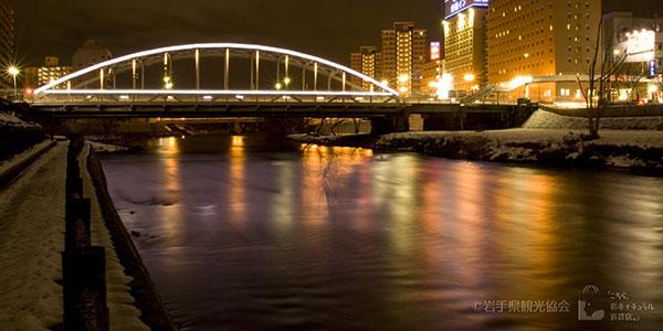 開運橋のライトアップ