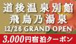 3,000円宿泊クーポン配布中