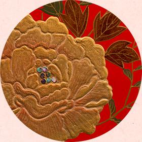 桜井漆器(蒔絵)の壁面装飾(個室休憩室)