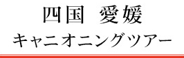 四国 愛媛キャニオニングツアー