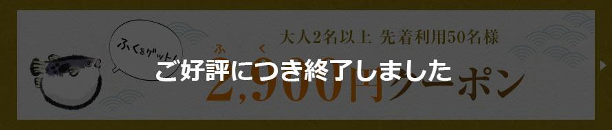 2,900円クーポン