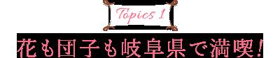 Topics1 花も団子も岐阜県で満喫!