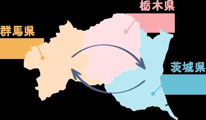 群馬県 / 栃木県 / 茨城県