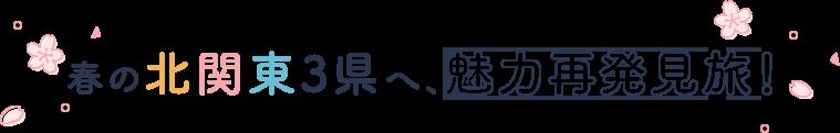 春の北関東3県へ、魅力再発見旅!