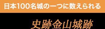 日本100名城の一つに数えられる 史跡金山城跡