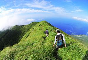 八丈富士の「天空の道」