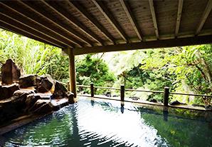 緑に囲まれた「裏見ヶ滝温泉」