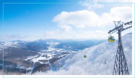 多彩なスキーコースから豊富なグルメ、充実の滞在施設