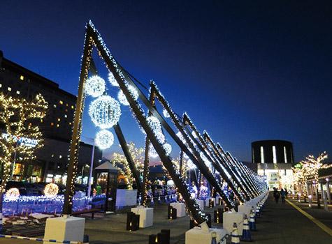 函館駅前広場イルミネーション