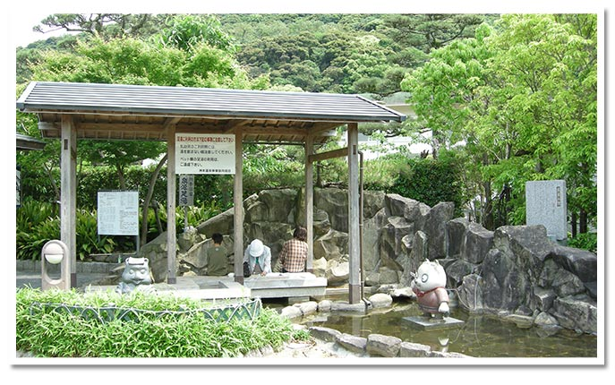 洲本温泉を散策!潮騒の湯・足湯
