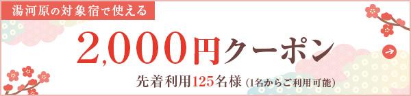 2,000円分宿泊割引クーポン