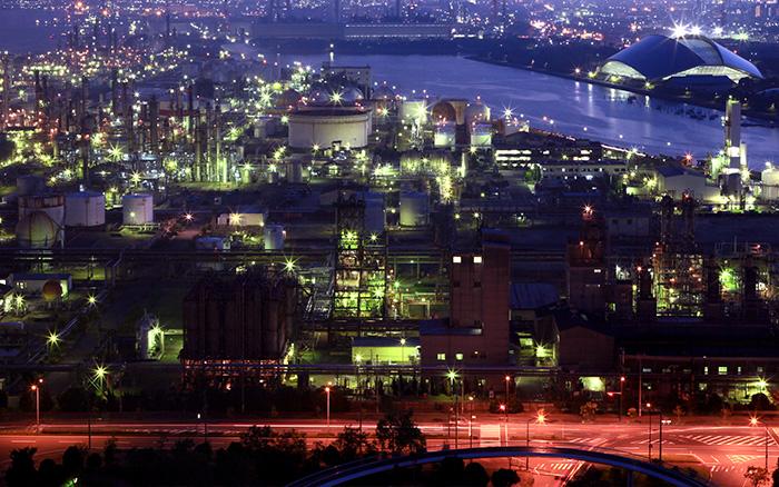 バス旅!陸から観る四日市工場夜景