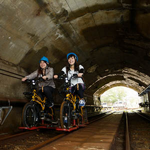 レールマウンテンバイク/トロッコ電車(熊野市)