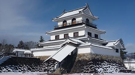 雪の白石城