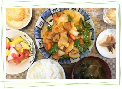 酢豚定食-日替わりランチ-(きたせんと)