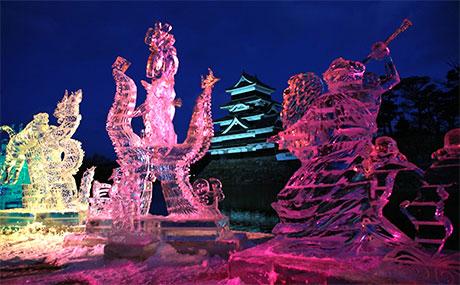 国宝松本城氷彫フェスティバル2018