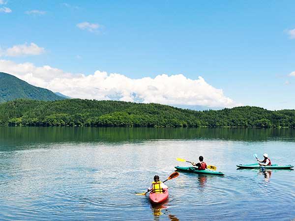 青木湖を大冒険「カヌー・カヤック」