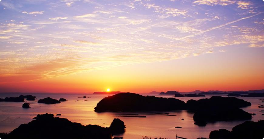 船越展望所から見た夕景