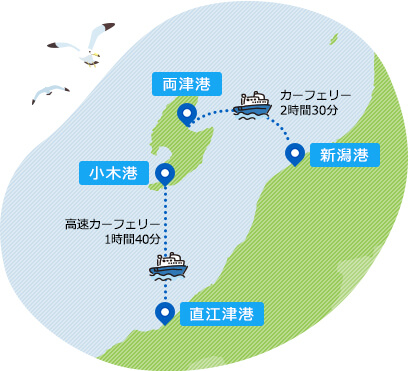 カーフェリー地図